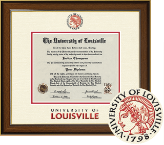 University of Louisville dimensions diploma frame by church hill classics