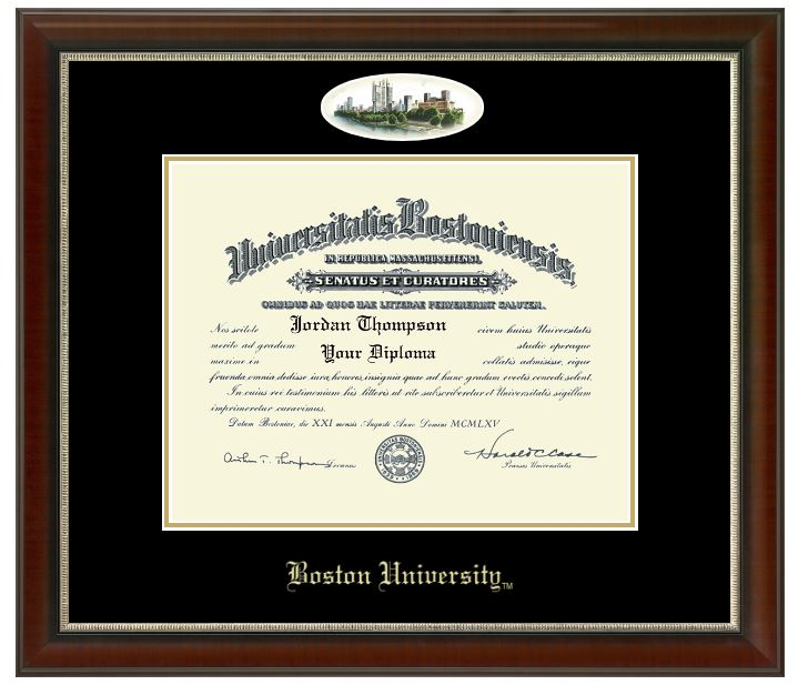 Boston Univeristy Campus Cameo Diploma Frame