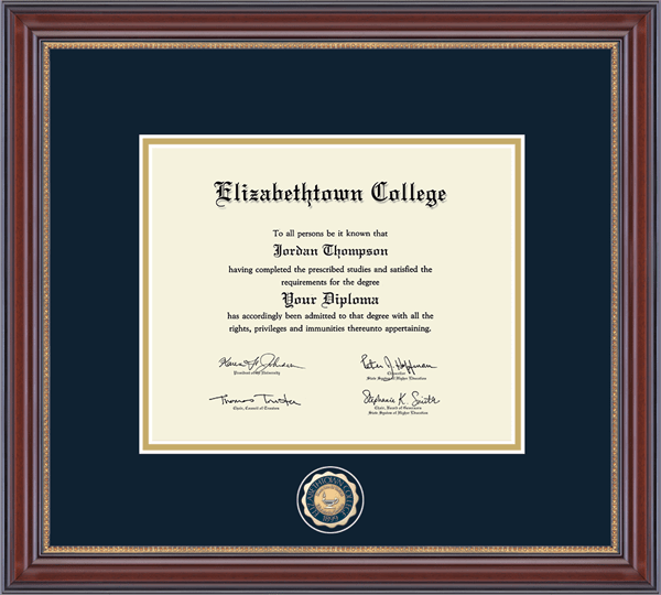 Masterpiece Medallion Diploma Frame in Kensington Gold