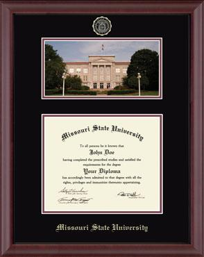 Campus Scene Edition Diploma Frame in Camby