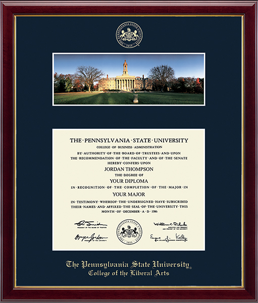 Campus Scene Diploma Frame - Old Main in Galleria