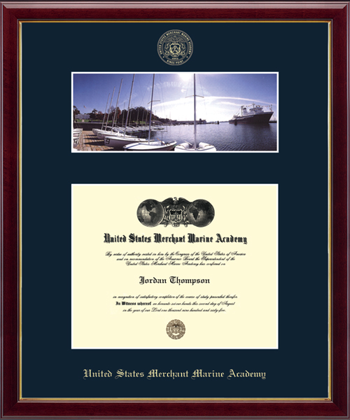 Campus Scene Diploma Frame - Waterfront in Galleria