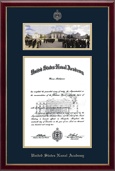 Campus Scene Diploma Frame - Bancroft Hall in Galleria