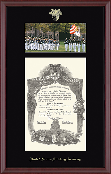 Campus Scene Edition Diploma Frame - 'Cadets in Camby