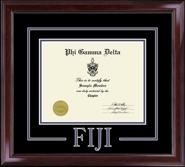 Greek Letters Certificate Frame - 8.5 x 11 in Encore