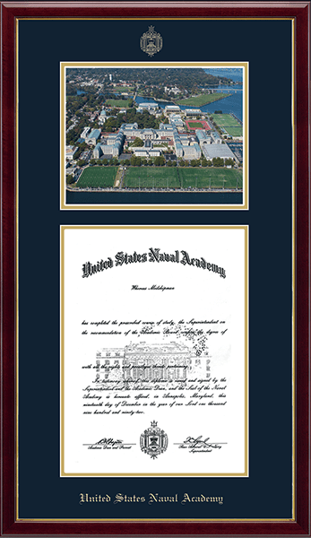 Campus Scene Diploma Frame - Aerial View in Galleria