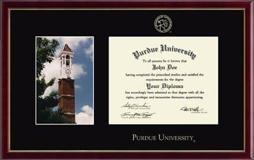 Campus Scene Diploma Frame - Bell Tower in Galleria