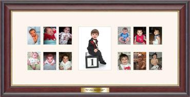 Baby's First Year Photo Frame in Studio Gold