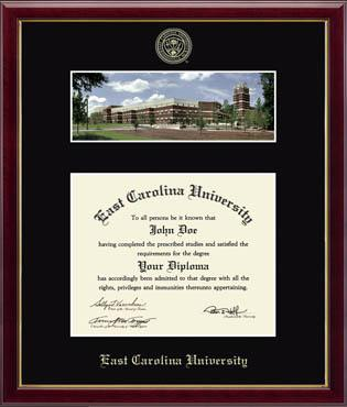 Library Campus Scene Diploma Frame in Galleria