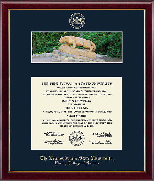 Campus Scene Diploma Frame - Nittany Lion in Galleria