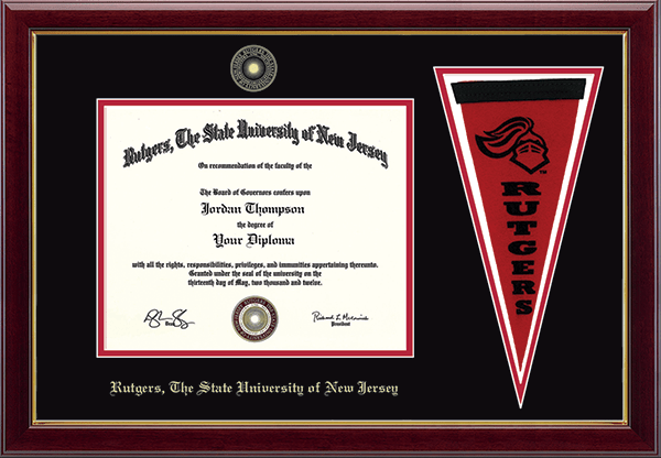 Pennant Edition Diploma Frame in Gallery