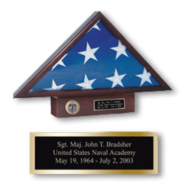 Memorial Flag Case with Pedestal