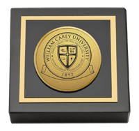 Gold Engraved Medallion Paperweight