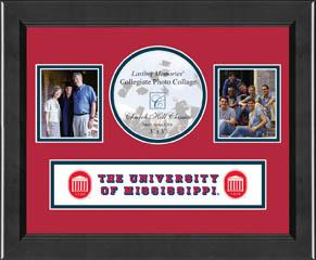 Lasting Memories Banner Collage Photo Frame - Red / Navy Mat in Arena