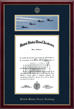 Campus Scene Diploma Frame - The Blue Angels in Galleria