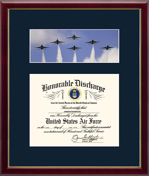 US Air Force Photo and Honorable Discharge Certificate Frame - Jets in Galleria