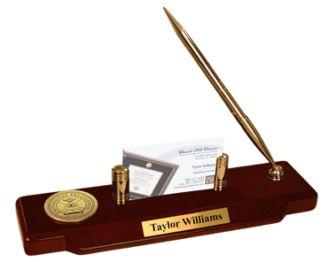 Gold Engraved Medallion Desk Pen Set - Web Only