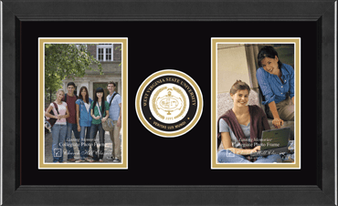 Lasting Memories Double Circle Logo Photo Frame in Arena