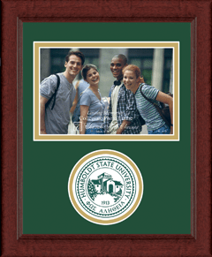 "4""x6"" - Lasting Memories Circle Logo Photo Frame in Sierra"