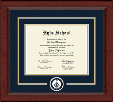Circle Logo Edition Diploma Frame in Sierra
