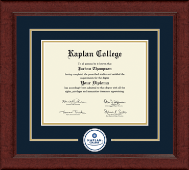 Lasting Memories Circle Seal Diploma Frame in Sierra