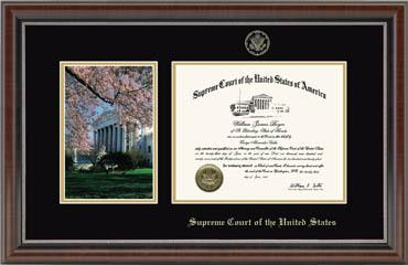 Cherry Blossom Scene Certificate Frame in Chateau