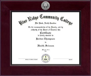 Century Silver Engraved Diploma Frame in Cordova