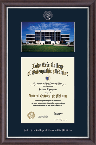 Erie Campus Scene Edition Diploma Frame in Devonshire