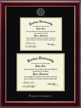 Double Diploma Embossed Frame in Gallery