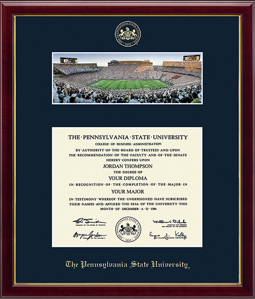 """Campus Scene Diploma Frame - """"White Out"""" in Galleria"""