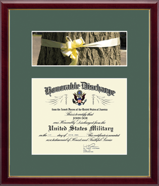 Honorable Discharge Certificate and Photo Frame - Ribbon in Galleria