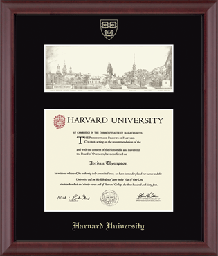 Overly Wide View Edition Diploma Frame in Camby