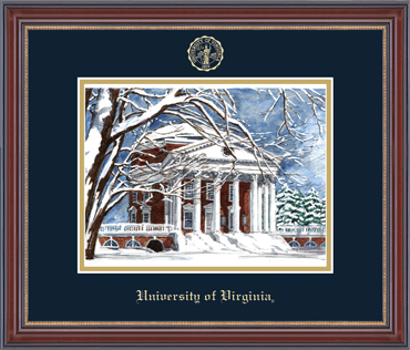 Embossed Edition Lithograph Frame - Rotunda in Kensington Gold