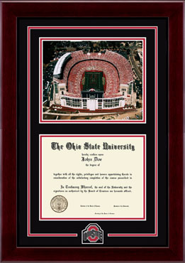 Athletic O Spirit Medallion Stadium Photo Diploma Frame 