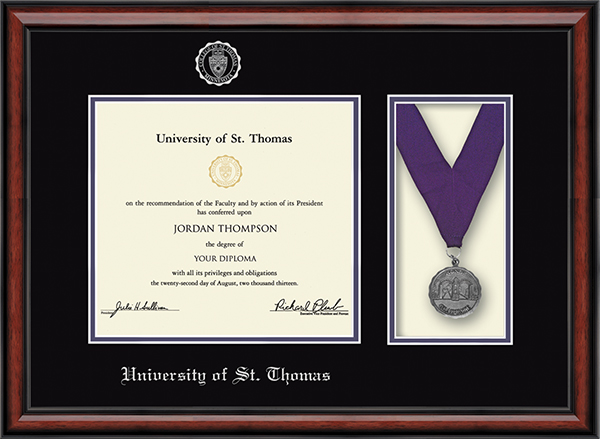 Latin Honors Medal Diploma Frame in Southport