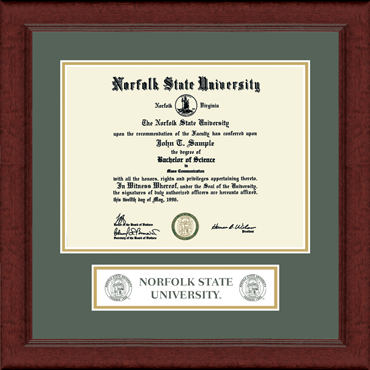 Norfolk State University Associate S Lasting Memories Banner Seal Diploma Frame In Sierra Item 225302 From Norfolk State University