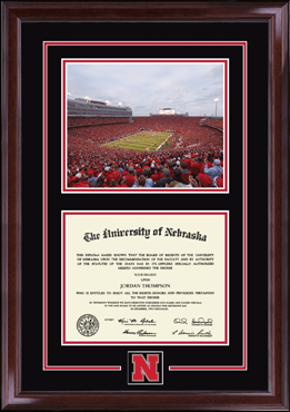 Campus Scene Spirit Medallion Diploma Frame in Encore