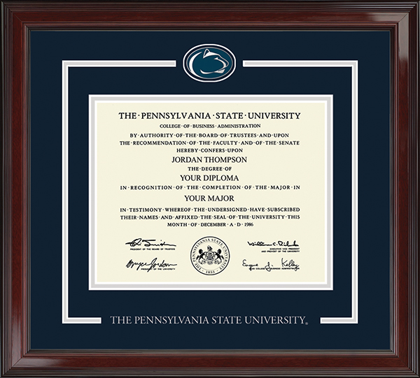 Nittany Lion Diploma Frame in Encore