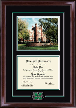 Campus Scene Edition Diploma Frame in Encore