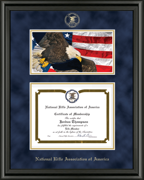 Eagle Edition Certificate Frame in Midnight