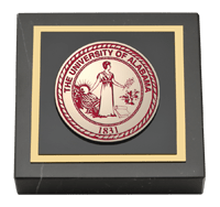 Crimson Masterpiece Medallion Paperweight