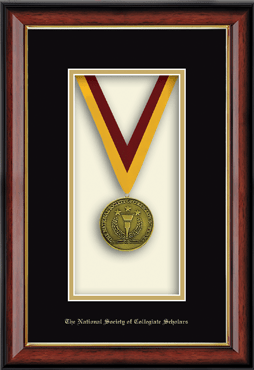 Commemorative Medal Shadowbox Frame in Southport Gold