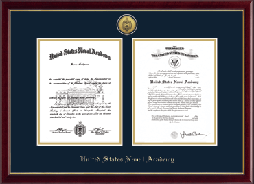 Gold Engraved Double Diploma Frame in Galleria