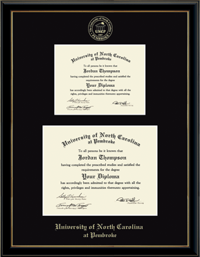 Double Diploma Frame in Onexa Gold