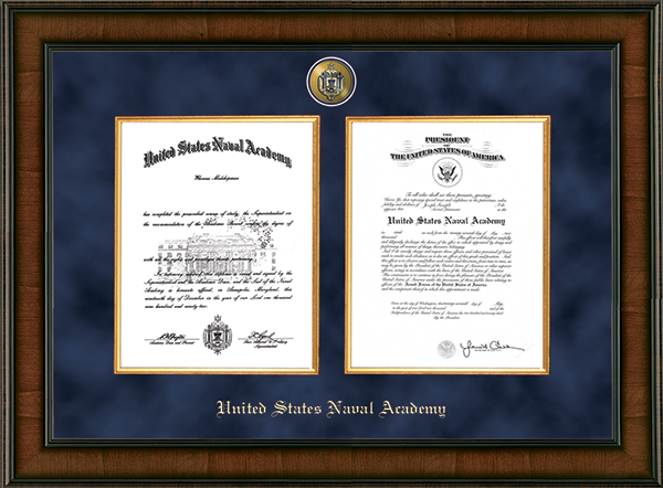 Presidential Masterpiece Double Diploma Frame in Madison