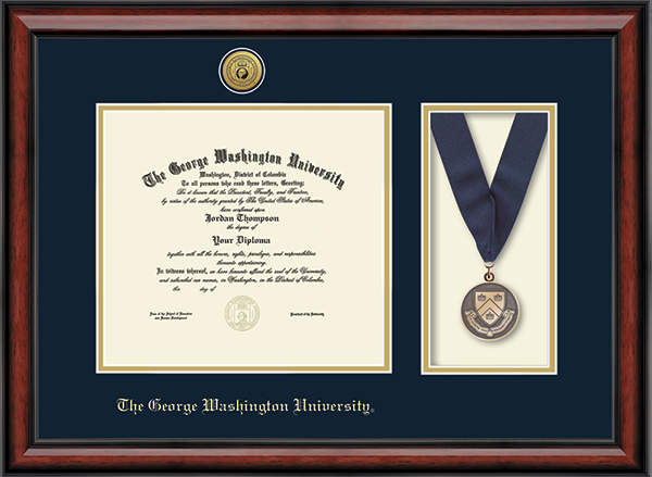 Gold Engraved Medallion and Medal Diploma Frame in Southport
