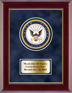 U.S. Navy Masterpiece Medallion Award Frame in Gallery