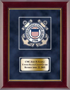 U.S. Coast Guard Masterpiece Medallion Award Frame in Gallery