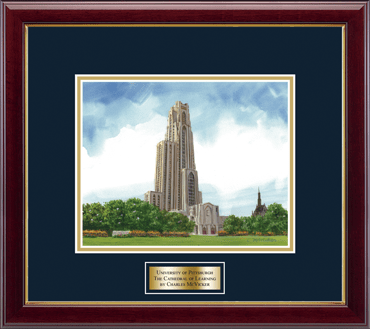 Framed Lithograph in Gallery