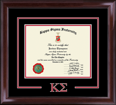 Dimensions Certificate Frame in Encore
